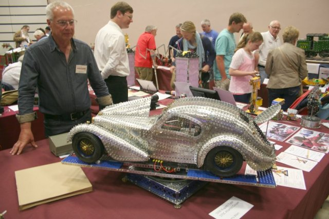 Terry Allen with his prize-winning Bugatti