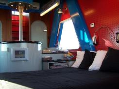 """Double bed & """"kitchen"""""""